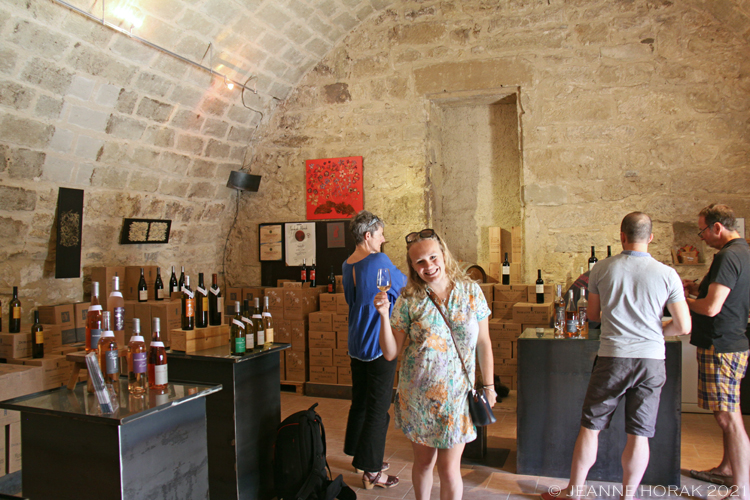 Domaine Les Yeuses tasting cellar