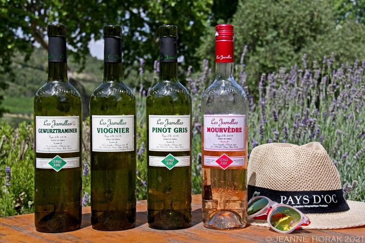 Les Jamelles wine bottles