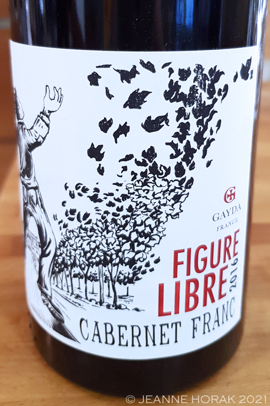 Domaune Gayda Figure Libre wine label