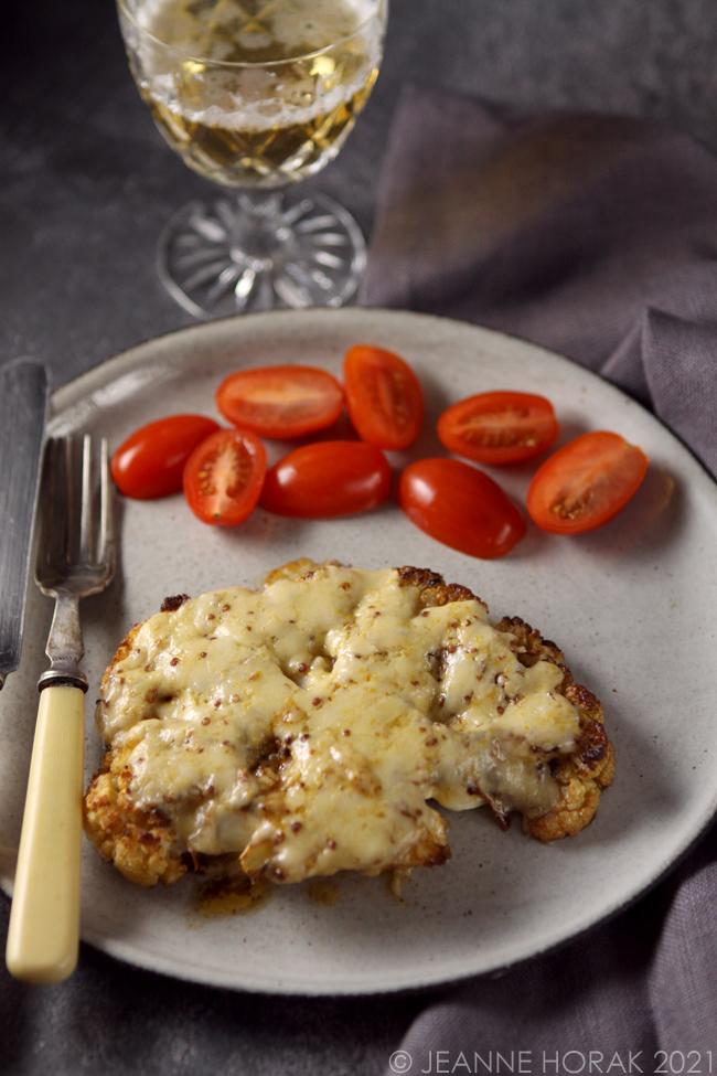 Cauliflower steak welsh rarebit