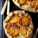 Blood orange & pistachio galettes